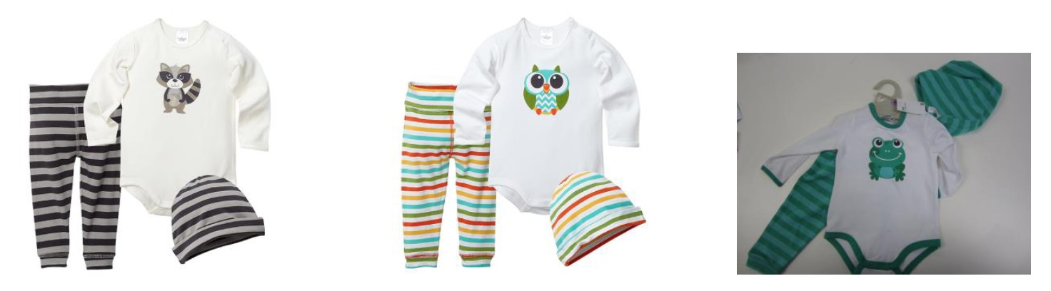 Target has recalled these three-piece baby clothing sets due to safety concerns.