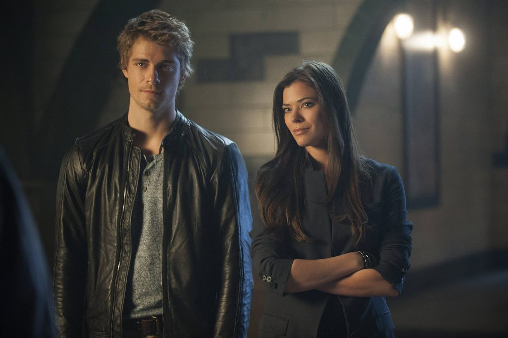 Luke Mitchell and Peyton List in a scene from The Tomorrow People.