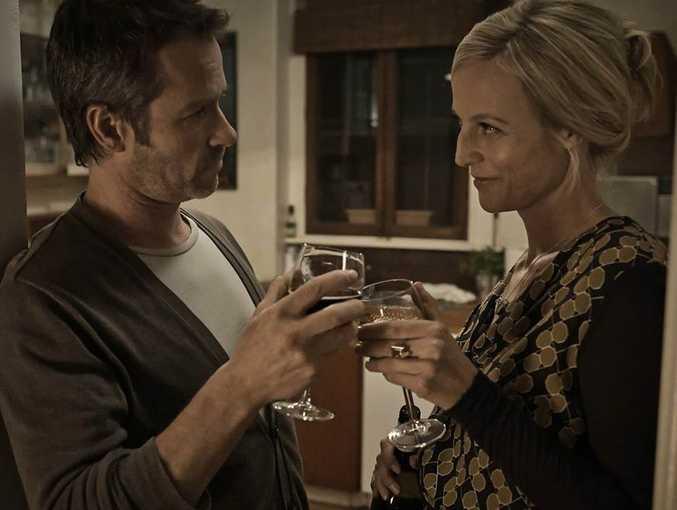 Guy Pearce and Marta Dusseldorp in the telemovie Jack Irish: Dead Point.