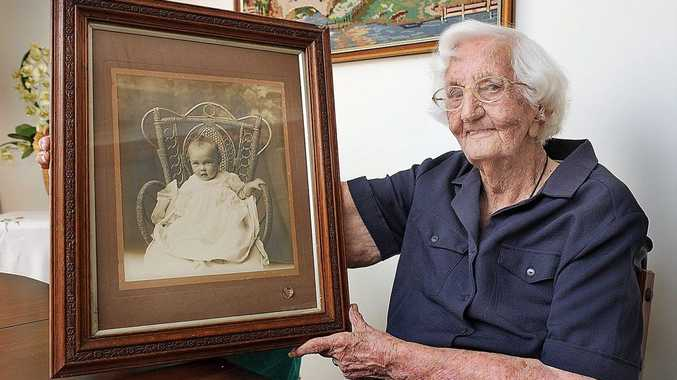 Maryborough's Agnes Mary Cook celebrating her 100th birthday.