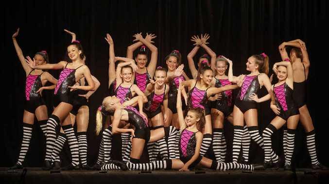 DANCE ACTION: Casino Dance Academy striking a pose in Modern, Cabaret or Jazz Style at the Grafton Dance Eisteddfod. Photo Adam Hourigan