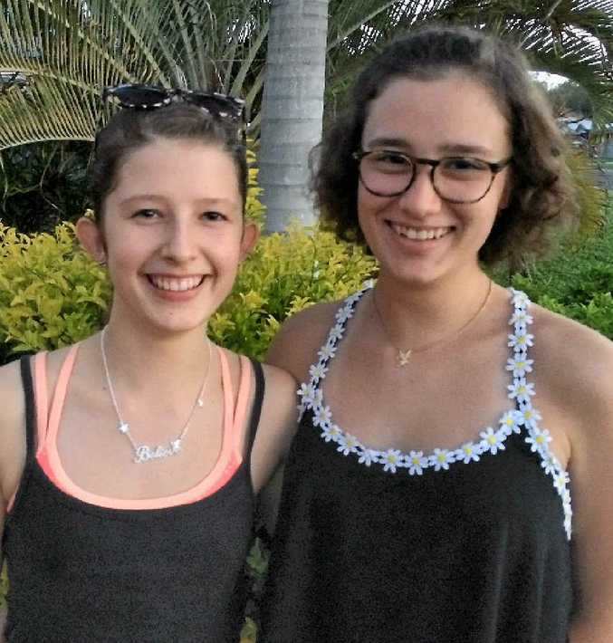 Avril and Grace Hocking will take part in the 2014 Gladstone Harbour Festival Junior Talent Quest.