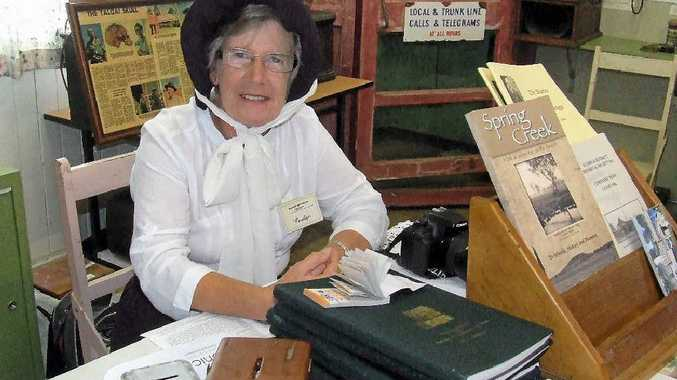 Allora District Historical Society secretary Carolyn Anderson certainly looks the part at the 2013 Demonstration and Display Day, on again this weekend.