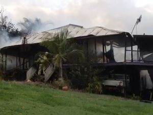 Fire destroys Valdora home