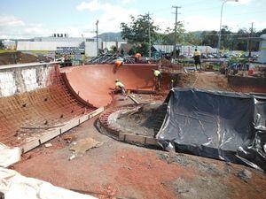Brelsford Park skate plaza racing toward completion