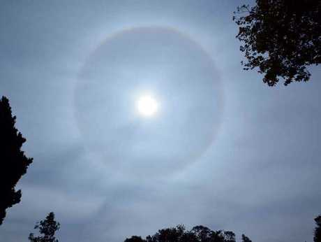 Grant Rolph's photograph of a sun halo over Toowoomba.