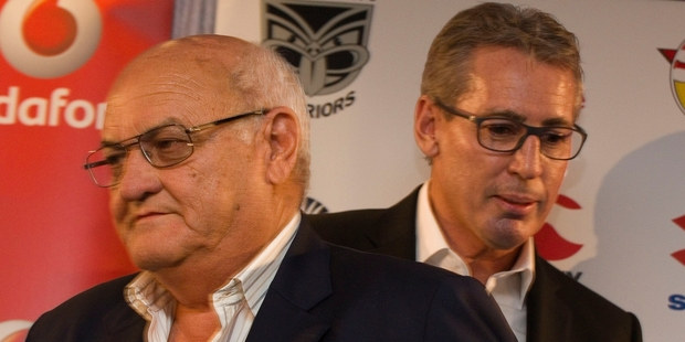 Sir Owen Glenn (left) has had discussions with fellow co-owner Eric Watson (right) about selling his 50 per cent stake in the club.