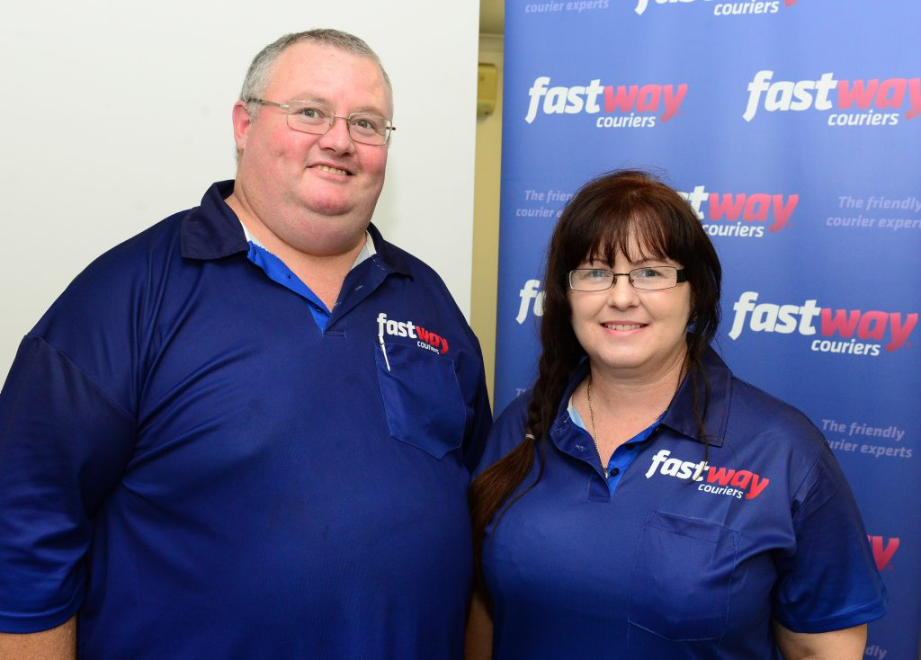 Fastway Couriers Capricorn Coast new owners, brother and sister team Max Rowe and Anne Mounter. Photo Sharyn O'Neill / The Morning Bulletin