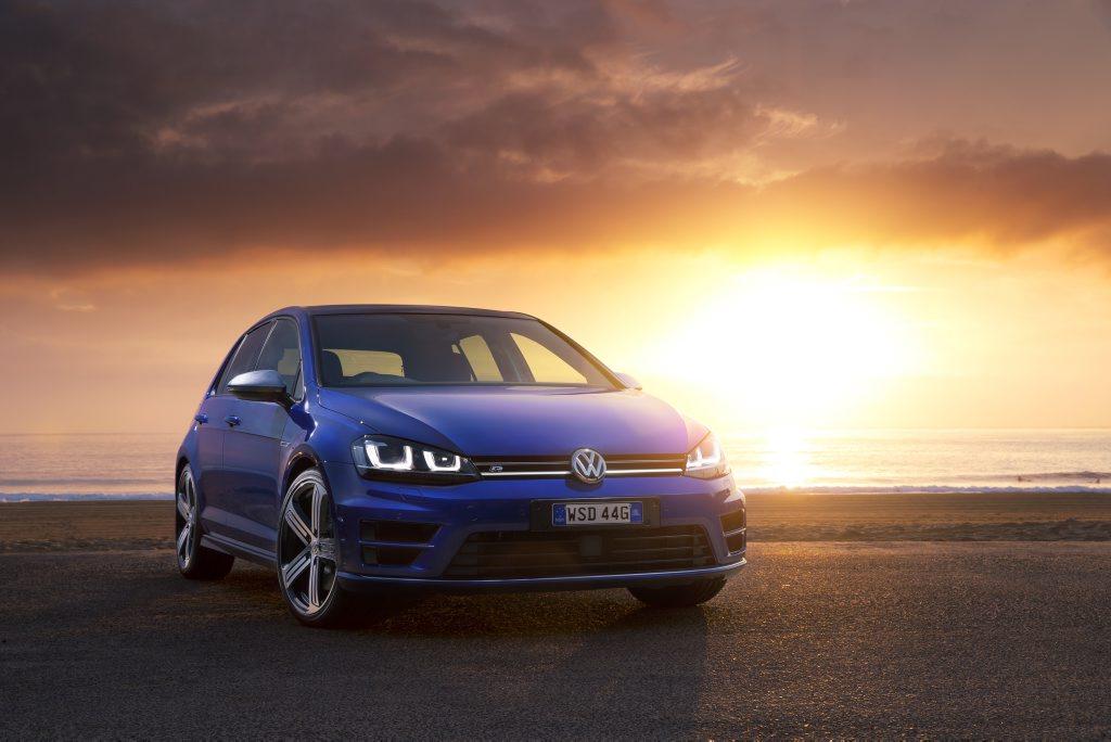 The new VW Golf R.
