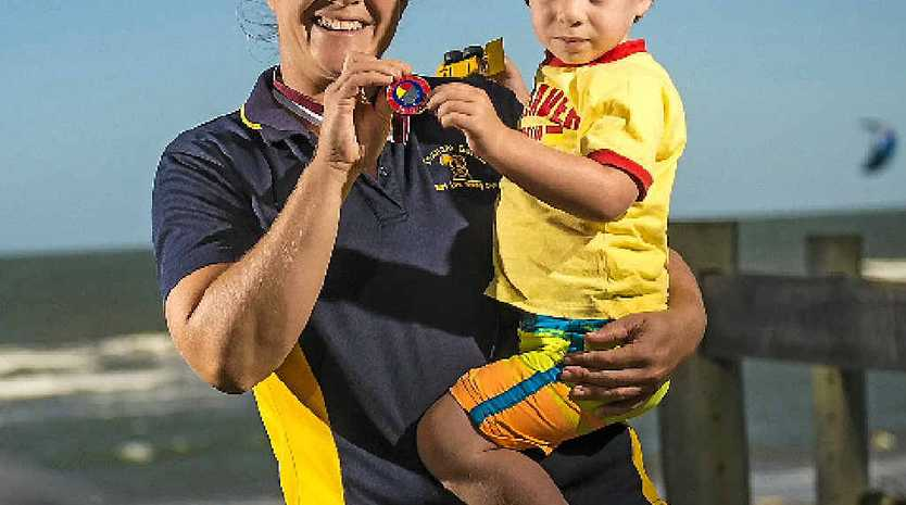 Nicole Lowe surprised herself by winning a national women's lifesaver silver medal in Perth.