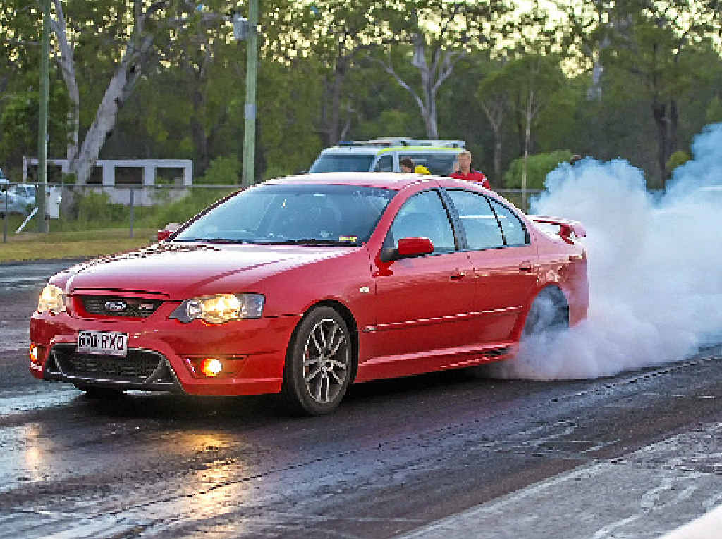JUST SMOKIN': The Benaraby Raceway Off-Street Meet offers everyone the chance to put their car to the test.