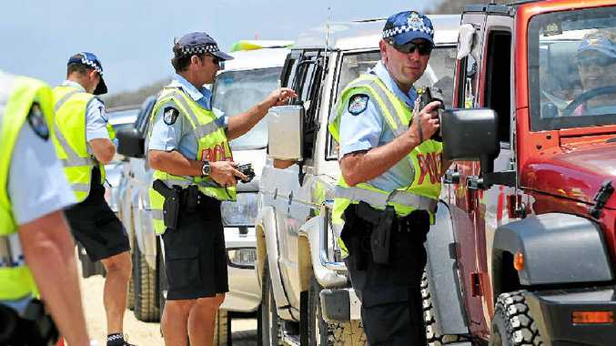 BEACH BLITZ: Police are concentrating on 4WD drivers on Noosa North Shore this Easter.