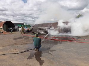 Firefighters extinguish fire in Oakey storage shed