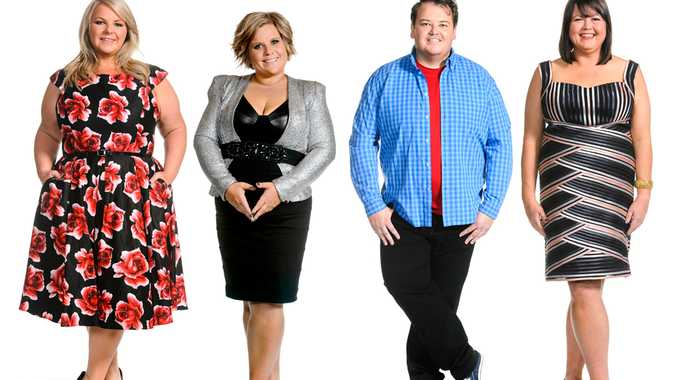 The four finalists: Katrina, Sharon, Craig and Toni.
