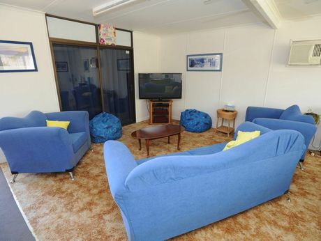 Bayside Transformations - lounge area in the womens house.