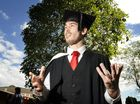 Alex Cossu graduates with a Bachelor of Creative Arts.