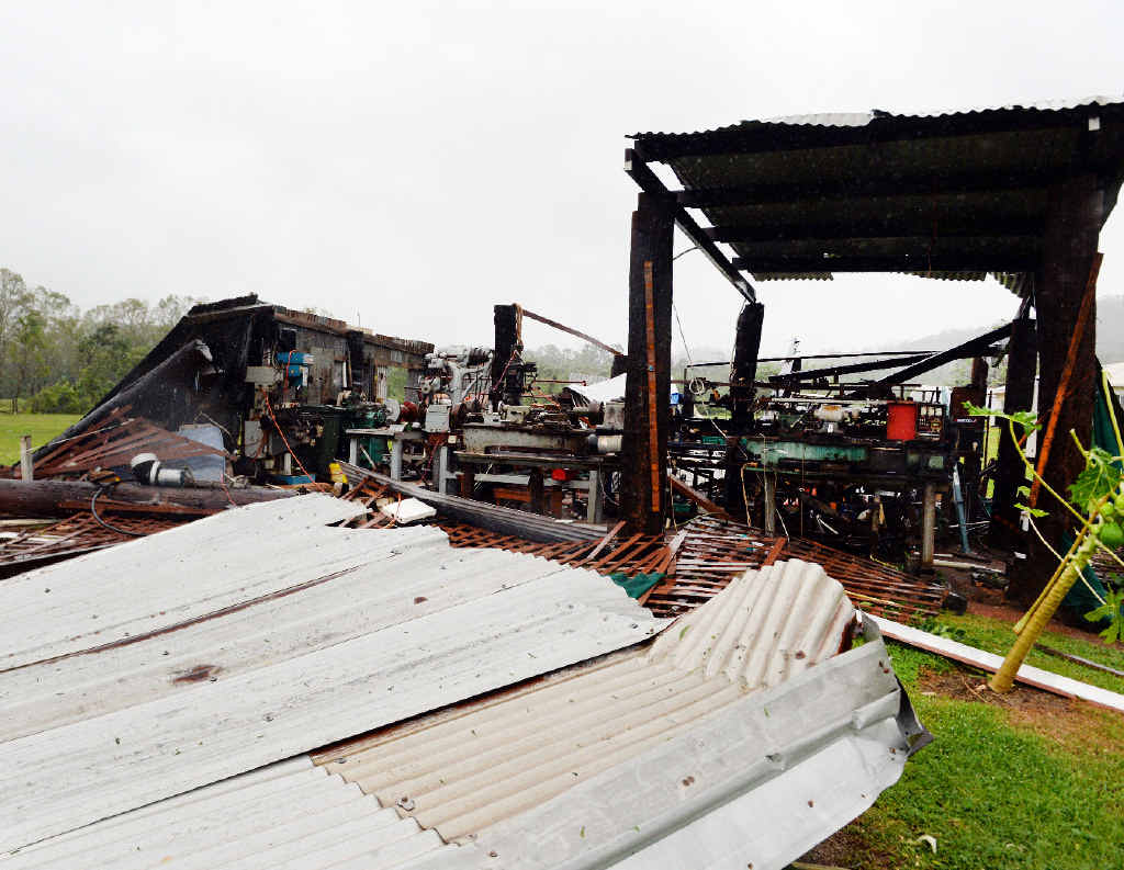 Roofing iron was everywhere from this Cooktown machinery shed.