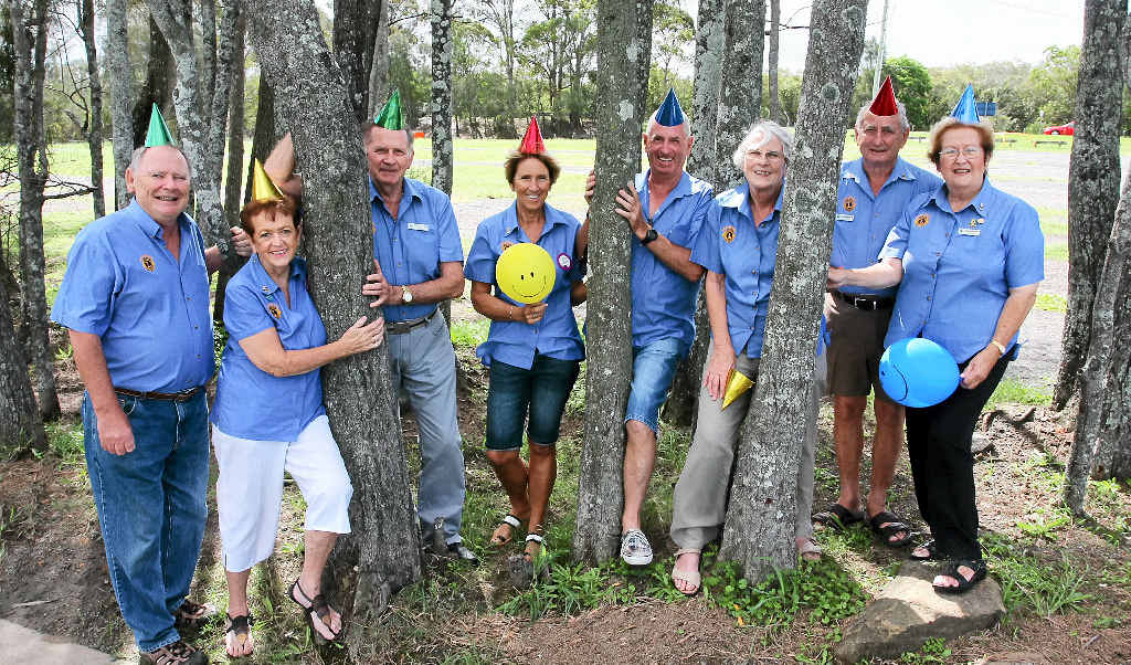 Lions Club of Mooloolaba members at the Fishermans Rd Sunday Markets site (from left) Peter Whalan, Dot Dawes, Ken Peters, Lyn Radonich, Dean Farrow, Jenny Power, Alan Carpenter and Raema Carpenter.