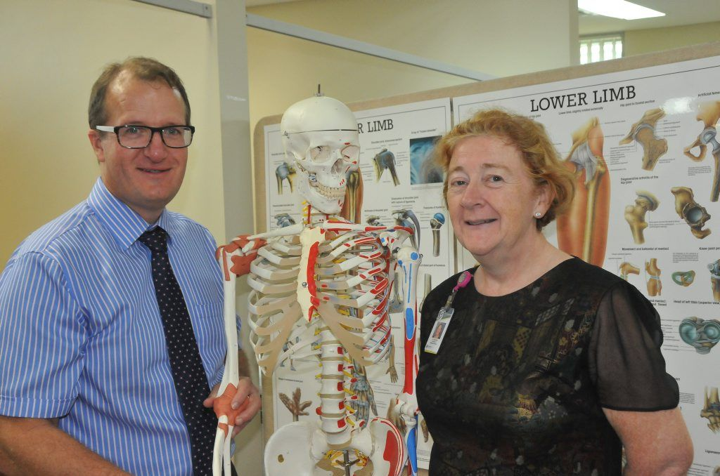 NEW SPECIALIST: Orthopaedic surgeon Dr Gerard Kilian with Gladstone Hospital Director of Medical Services Dr Nicki Murdock.