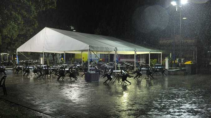Gladstone Harbour Festival could not go ahead on Sunday because of the rain.