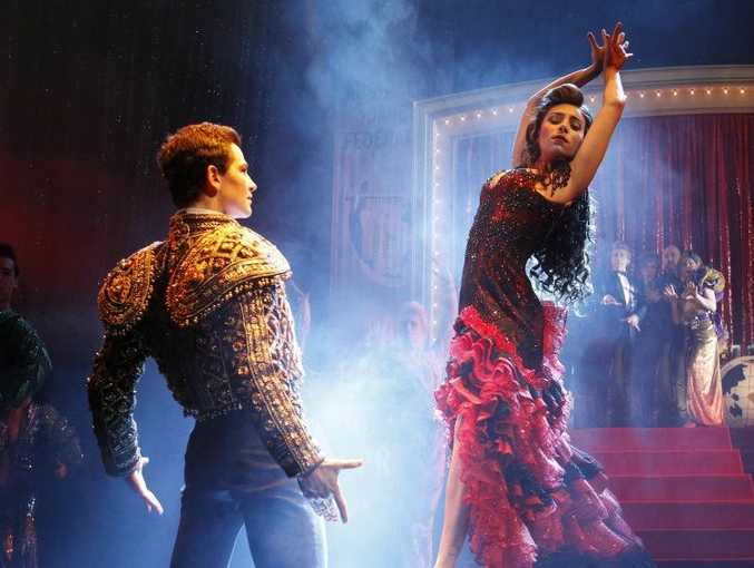 Phoebe Panaretos and Thomas Lacey in Strictly Ballroom.