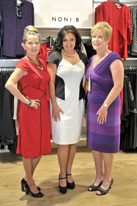 LOOKING GOOD: Silvia Sanchez-Vegas, Marina Karamatsou and Elaine Brown model clothes from Noni B.