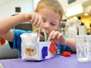 Children craft eggscellent Easter baskets at Stockland