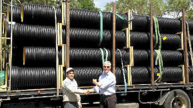 Saipem has presented 20 segments of pipe to Moggill National Park in Brisbane.