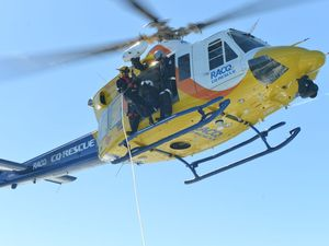 Men airlifted from vessel which run aground on Trogolby Reef