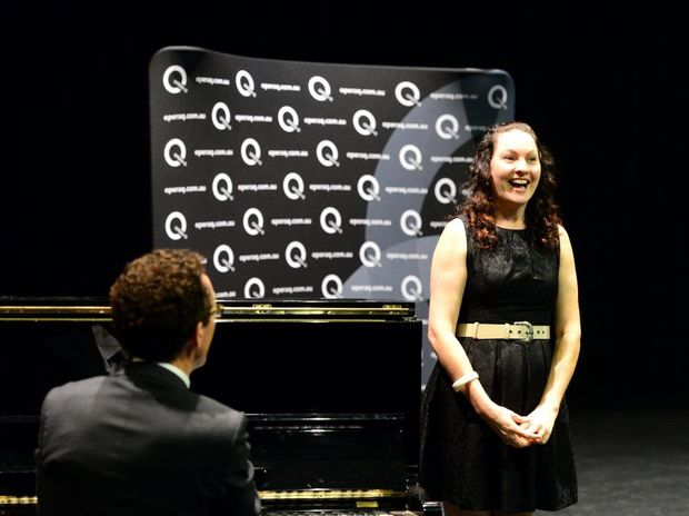 Cyndi Thomson (with Jason Barry-Smith on piano) during auditions for Opera Qld's production of La Boheme at the Rockhampton Pilbeam Theatre. Photo Sharyn O'Neill / The Morning Bulletin
