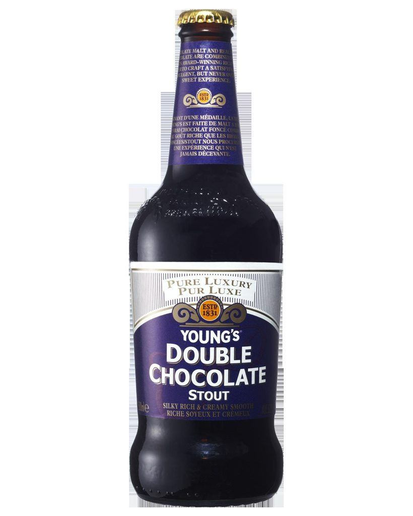 Bottle of Young's Double Chocolate Stout.