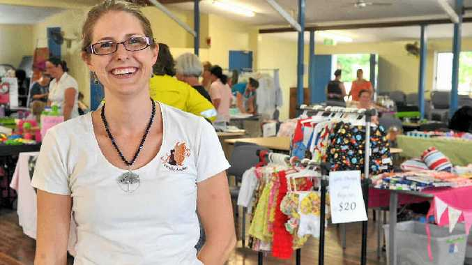 Heidi Fowles, the owner of Firefly Amber, held a stall at the Work at Home Mums Expo.