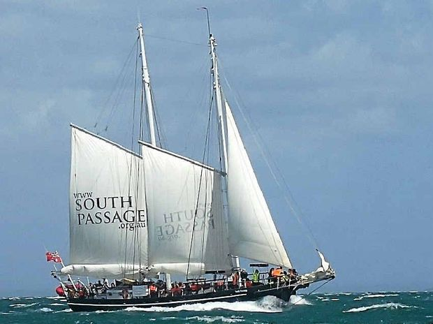 Queensland's tall ship South Passage will feature in this year's Brisbane to Gladstone Yacht Race with Gladstone marine pilot Liz Datson skippering the schooner.