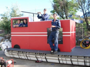 NRG set to take on all comers with fire truck replica raft