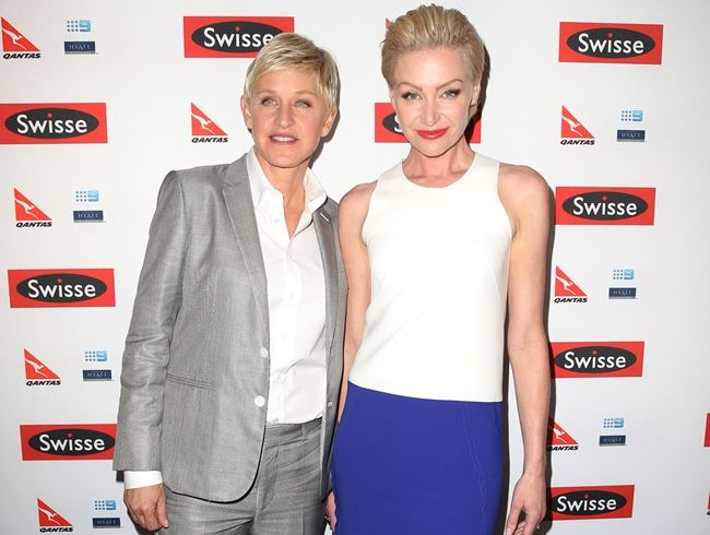 Ellen DeGeneres with wife Portia de Rossi.