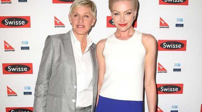 Ellen DeGeneres with wife Portia de Rossi.