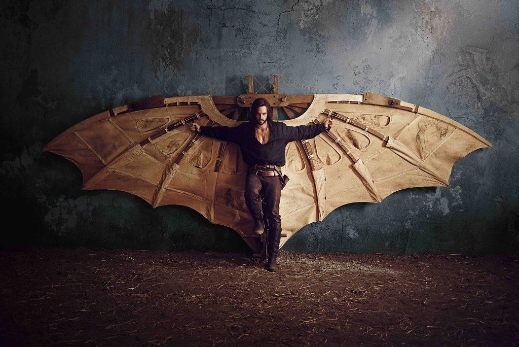 Tom Riley as Leonardo da Vinci in Da Vinci's Demons.