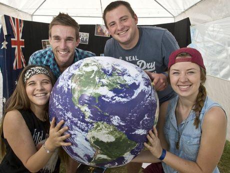 ( from left ) Sadie De-Vigny, Callum Thomas, Josh Howlatt and Chelsey Dyck at Easterfest.