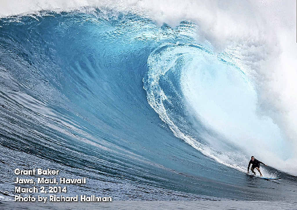 ON A ROLL: Grant Baker, at Maui, is a prime candidate for the Billabong XXL Big Wave Awards.