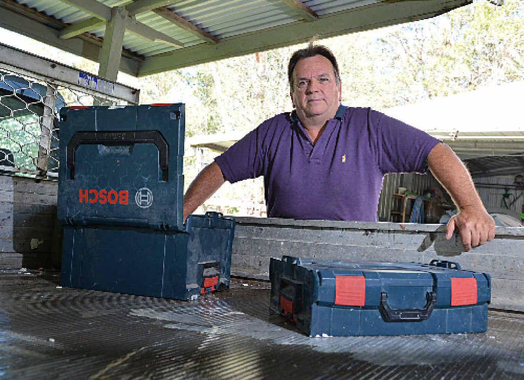 SAD LOSS: Lionel Bowler just wants his stolen tools back.