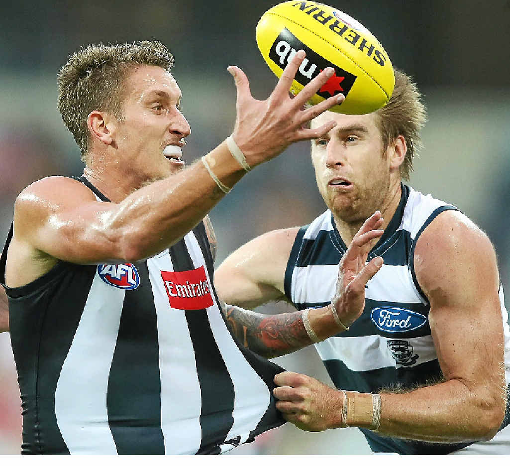 Jesse White is enjoying being a part of the action for Collingwood this season.