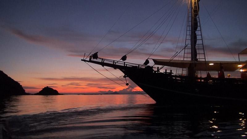 Stunning sunset: Cruising the Flores Sea, Indonesia