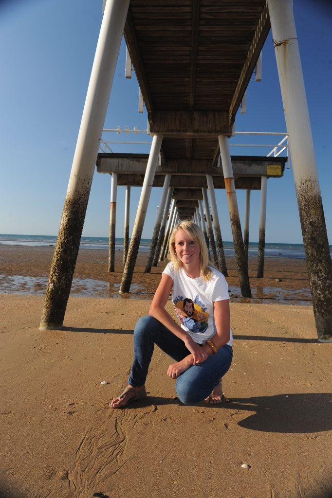Amanda French on the beach in Hervey Bay.
