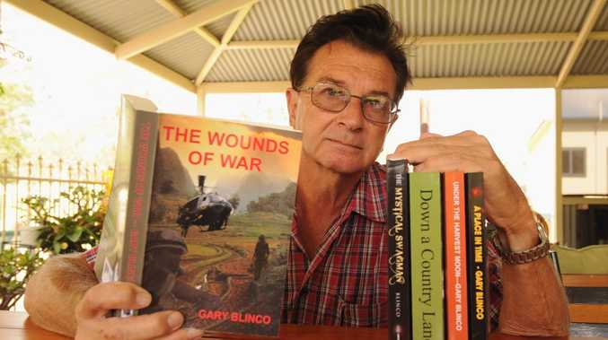 Author Gary Blinco with a selection of his books.