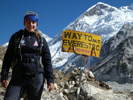Alyssa Azar at Base Camp in Nepal. Photo Contributed
