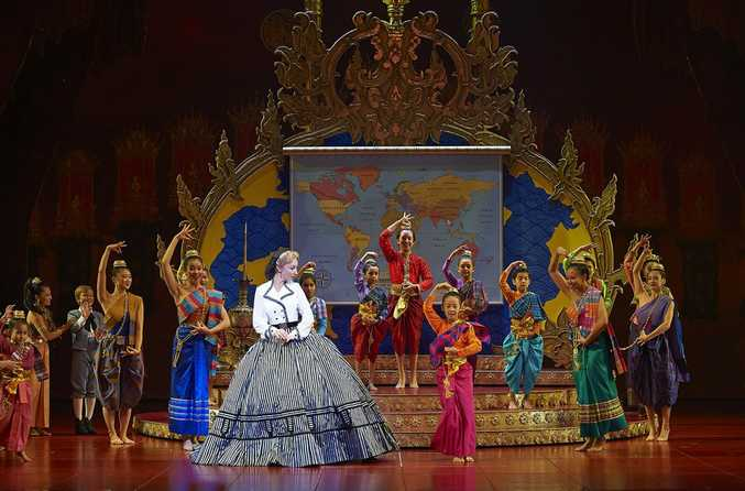 Lisa McCune (Anna Leonowens) and ensemble in The King and I .