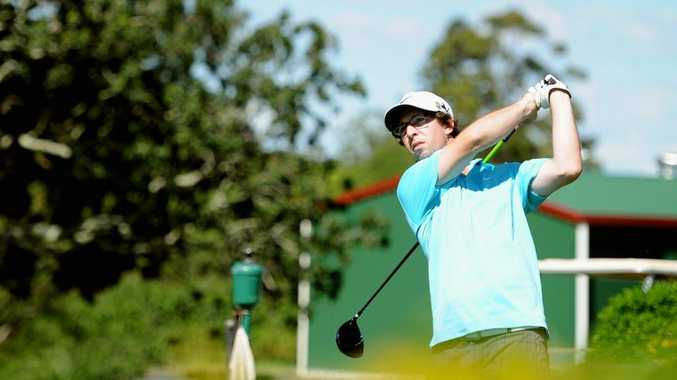 Maryborough Golf Club Annual Sporting Challenge- Doug Molkentin tees off the 10th. Photo: Robyne Cuerel / Fraser Coast Chronicle