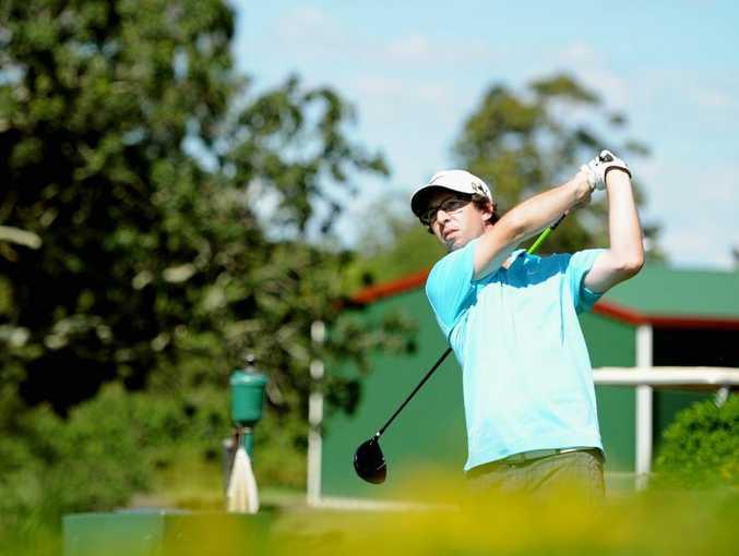 Maryborough Golf Club Annual Sporting Challenge- Doug Molkentin tees off the 10th. Photo: Robyne Cuerel / Fraser Coast Chronicle