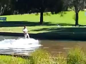 VIDEO: Surf's up ... in West Creek, Toowoomba?