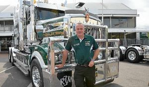 ABOVE AND BELOW: Craig Membrey and the truck he has dedicated to his son.